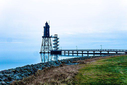 Lighthouse, North Sea, Dorum, Northern Germany