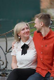 Mom, Son, Woman, Man, Communication, Trust, Smile