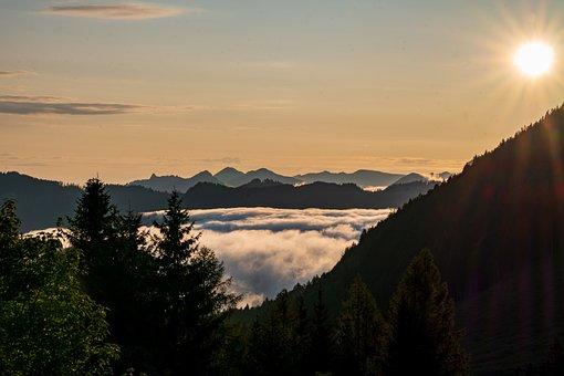 Morning, Morgenstimmung, Sunrise, Mood, Cloud Mood