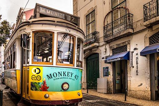 Portugal, Tram, Lisbon, Transport, Travel, Old, Lisboa