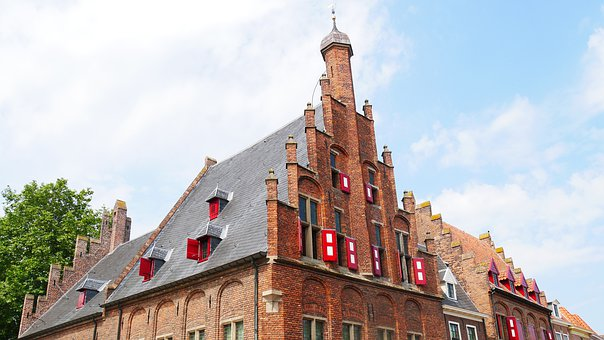 Zutphen, Facade, Old, Architecture, Cityscape, City