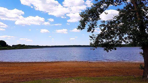 Reservoir, Russia, Tambov, Nature, Water, Pond