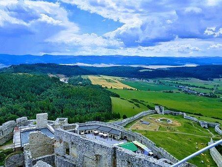 Castle, Landscape, Scotland, Architecture, Fantasy, Sky