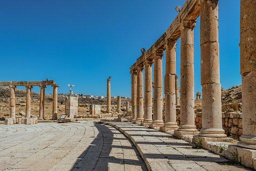 Pillars, Colonnade, Stone, Architecture, Ancient