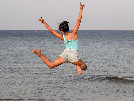 Girl, Teenager, Sea, Summer, Fun, Young, Teen, Youth