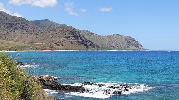 Hawaii, West Oahu, Oahu, Ocean, Shoreline, Water, Sea