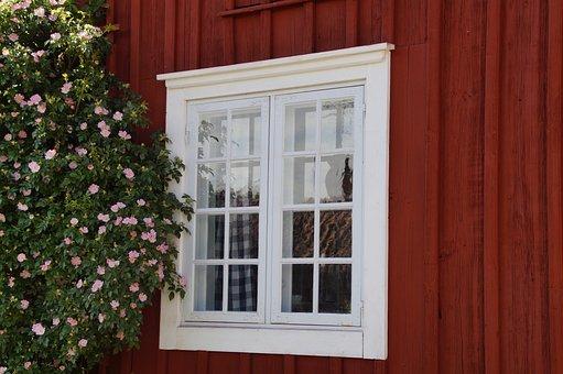 Window, Friendly, Sweden, Woodhouse, Facade, Bloom