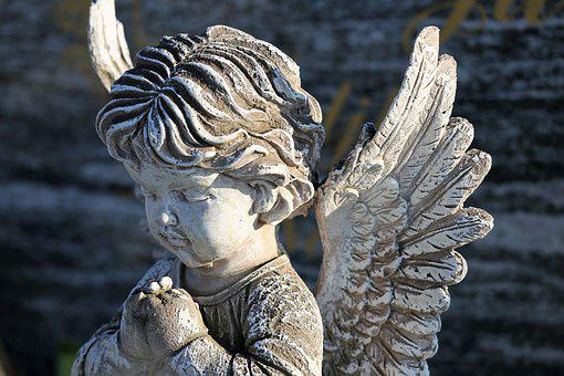 Angel Statue, Wings, Praying, Stone, Figure, Monument