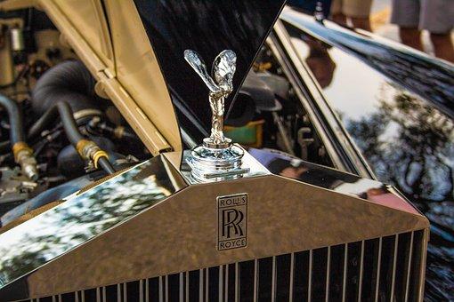 Rolls Royce, Luxury, Vehicle, Auto, Rich, Emblem
