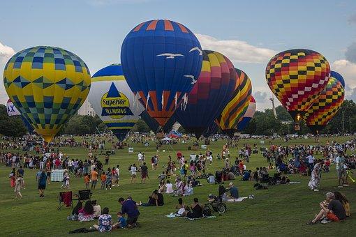 Atlanta, Georgia, Balloon, Landscape, Colors