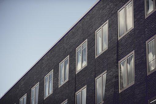Building, Black, Architecture, City, Urban, Window