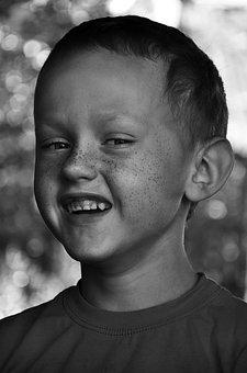 Kid, Child, Freckles, Laugh, Smile, Boy