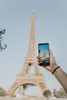 Paris, Eiffel Tower, Huawei, P30, Mobile Phone