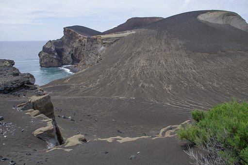 The Azores, Faial, Volcano, Ash, Cliff