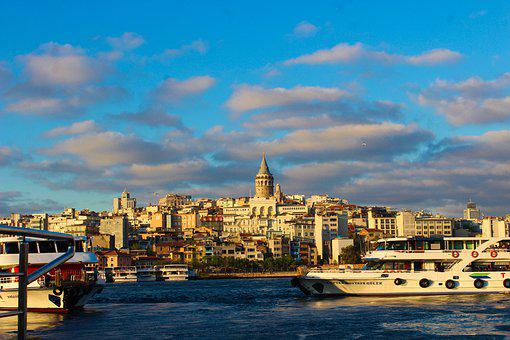 Istanbul, Galata, Estuary, Galata Tower, Landscape
