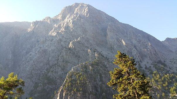Canyon, Grand Samaria, Holiday, Coast, Greece, Crete