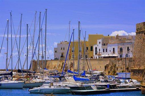 Porto, Boats, Gallipoli, Salento, Puglia, Sea, Italy