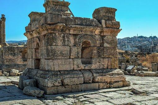 Jordan, Jerash, Gerasa, Travel, Stone, Architecture