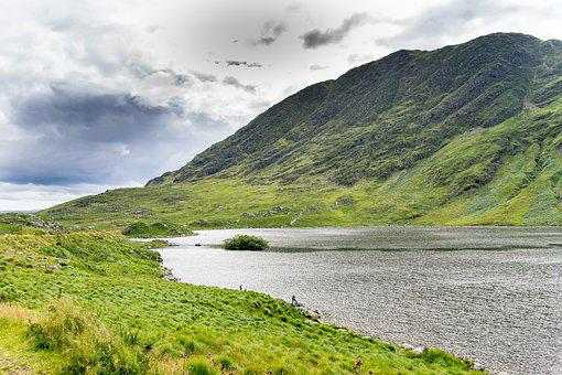 Ireland, Lake, Green, Landscape, Reported, Nature