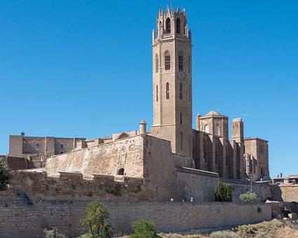 Castle, Tower, Romanesque, Lleida, Architecture