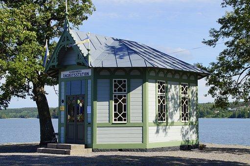 Mälaren, Mariefred, Art Nouveau, Cottage, Waiting Area