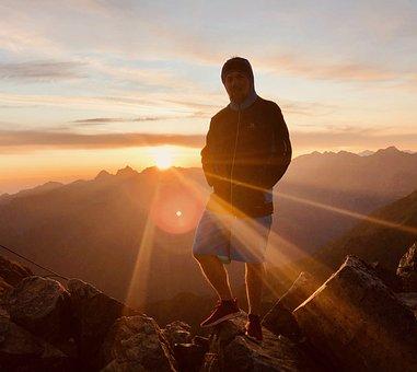Mountain, Kauns, Prutz, Tyrol, Tirol, Sunrise, Sunset