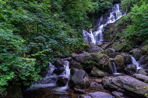 Torc Waterfall, Waterfall, Nature, Forest, Creek, River