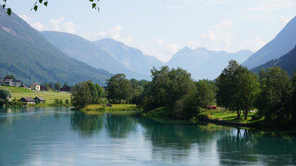 Nature, Landscape, Lake, Mountains, Panorama, Horizon