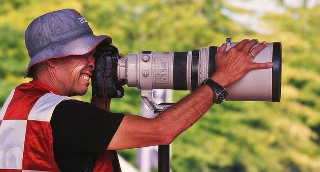 Photographer, Lens, Camera, Photo, Photograph