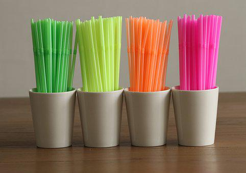 Straws, Plastic Straws, Plastic, Wegwerpplastic