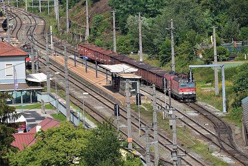 Railway, Railway Station, Station, Rails, Train
