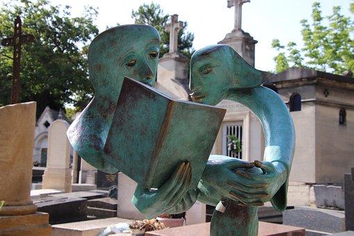 Sculpture, Modern, Bronze, Cemetery, Religion, Faith