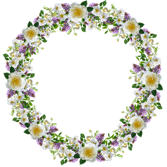Frame, Border, Flowers, Roses, Wisteria, Cut Out