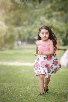 Child, Play, Girl, Portrait, Run, Running, Nature