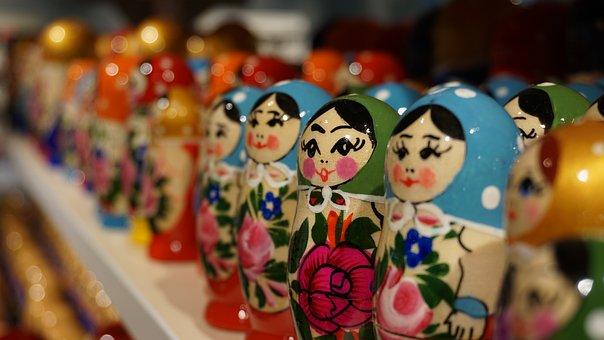 Matryoshka, Russian Dolls, Russia, Russian, Souvenir