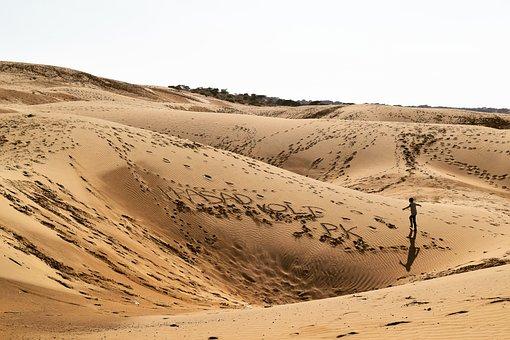 Desert, Sand, Dry, Dunes, Landscape, Thar, Nature