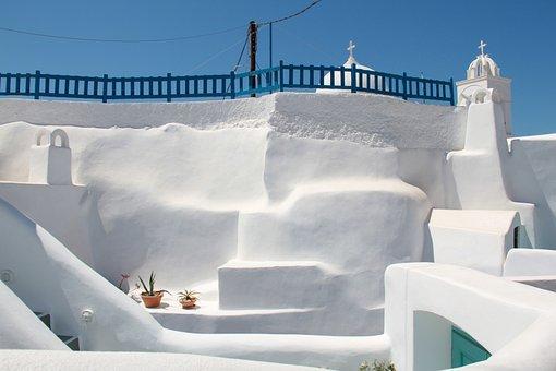 Akrotiri, Santorini, Blue, White, Tradition, Religion