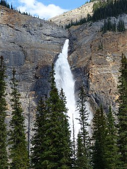 Takakkaw Falls, Waterfall, Water, Nature, Scenery