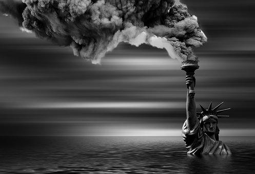 Climate, Climate Change, Statue Of Liberty, Smoke, Smog