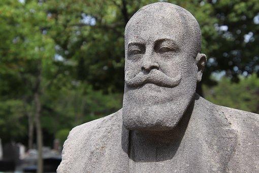 Statue, Sculpture, Pierre, Head, Face, Man, Beard