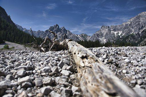 Dry, Stones, Scree, Landscape, Mountain, Hot