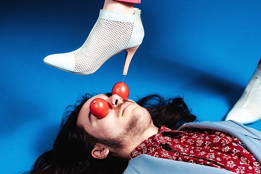 Shoes, Tomatoes, Man, Woman, Vegetables, Tomato Fruit
