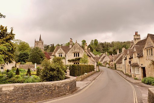 England, Uk, Street Photography, Film Set, Village