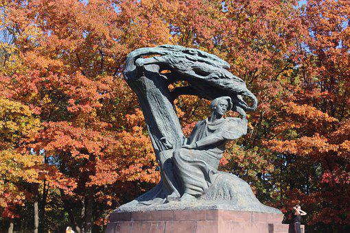 Warsaw, Chopin Monument, Monuments, Musician, Chopin