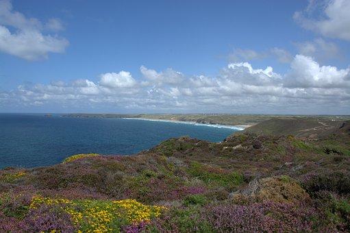 Cornwall, Travel, Landscape, Outlook, Sea, Coast, Water