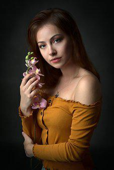 Girl, Flower, Beauty, Woman, Face, Hair, Eyes, Hands