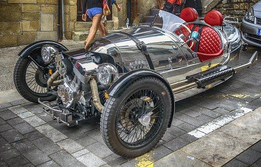 Car, Reflection, Metallic, Auto, Design, Engine
