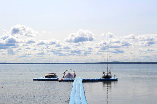 Lake, Sea, Water, Surface, Open Space, Boat, Swim, Calm