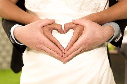 Wedding, Hands, Love, Couple, Woman, Romantic, Bride