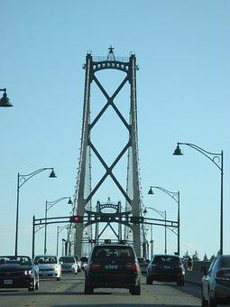Bridge, Traffic, Vancouver, Highway, Street